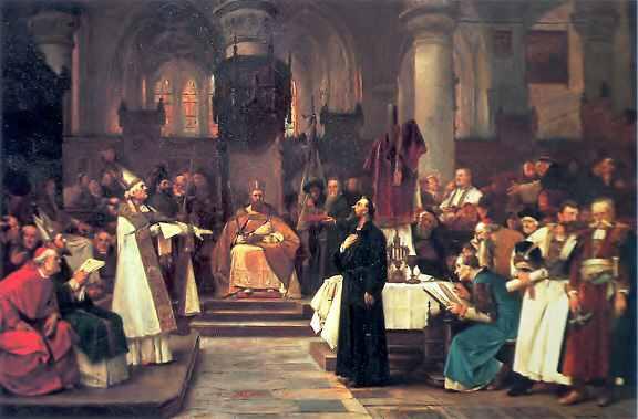 Jan Hus před koncilem v Kostnici